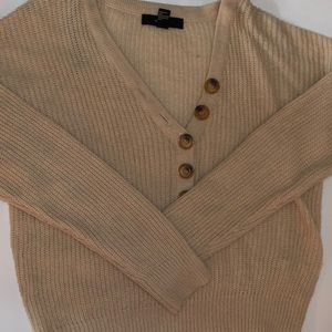 Tan Button Up Sweater